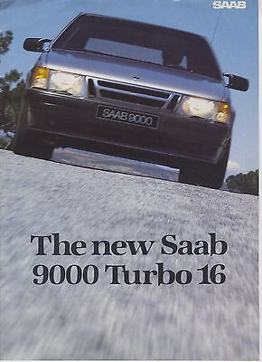 SAAB - 9000 Turbo 16 brochure/prospekt/folder English 1984