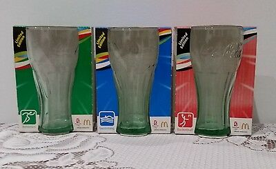 Coke Coca Cola Beijing Olympics 2008 - 3 Glasses Brand New In Packaging