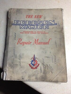 The New Fordson Major repair manual .Genuine January 1954.