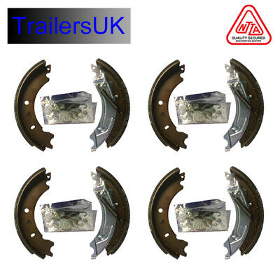 2 x Axle Sets of 200 x 50 Knott Type Trailer Brake Shoes for HB505 Ifor Williams