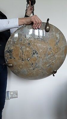 Beautiful old/vintage ceiling light ,Glass marble effect