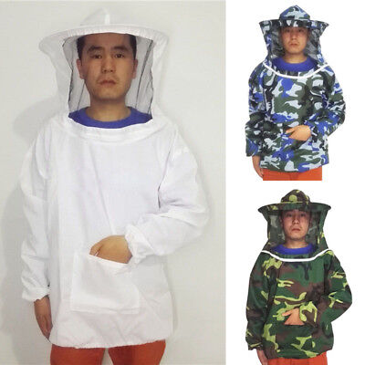 Bee Keeping Beekeeping Jacket Suits Smock Hat Sleeve Breathable Round Hat New