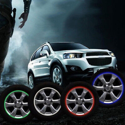 "Motorcycle car wheel rim 16 reflective strips 14"" stripe tape decal stickers RF"