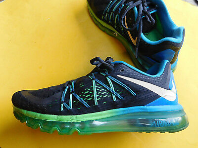 Mens Nike Air Max 2014 Running Shoes Size 9.5 Black Blue Green 698902
