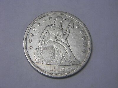 1843 Seated Liberty One Dollar S$1 Coin