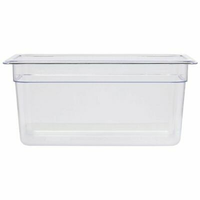 "Third Size Cold Food Pan Translucent, 12""L x 6""W x 6""D"