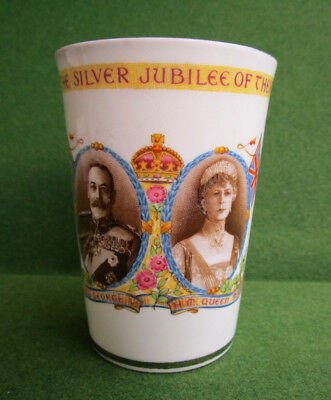Paragon China King George V & Queen Mary Silver Jubilee  Beaker c.1935