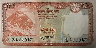 Nepalese Bank Note Rupees 20 Mt. Everest 2016