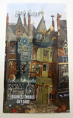 Harry Potter Barnes & Noble Collectible Gift Card Bookmark PVC UNUSED