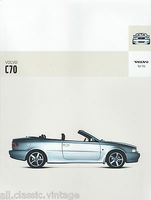 VOLVO - C70 full brochure/folder Dutch 2004