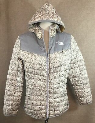 The North Face Girls Kids Youth Reversible Puffer Jacket FUR PRINT Size Unknown