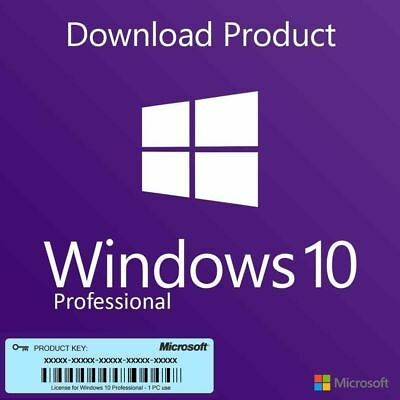 Microsoft Windows 10 Pro Professional License Activation Product Key Code 32/64
