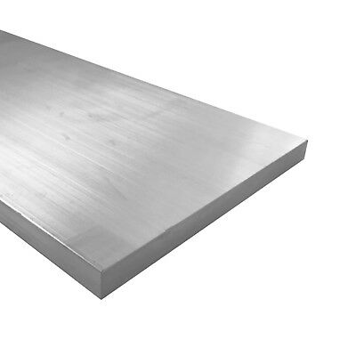"1/4"" x 8"" Aluminum Flat Bar, 6061 Plate, 2"" Length, T6511 Mill Stock, 0.25"""