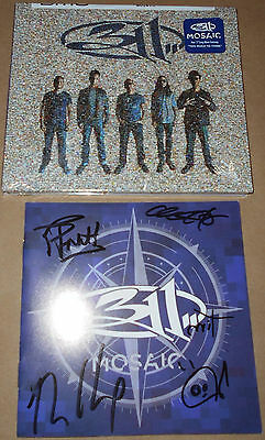 HAND-SIGNED 311 CD Mosaic New Sealed Too Much To Think Autograph Autographed