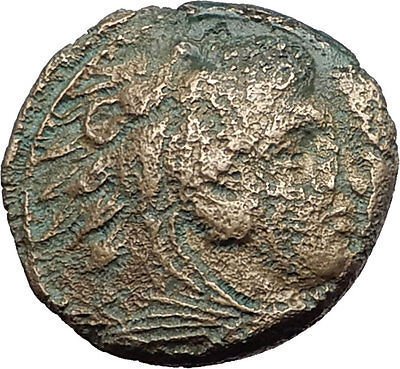 ALEXANDER III the GREAT 325BC Hercules Club Macedonia Ancient Greek Coin i59623