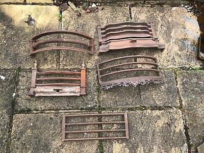 Job Lot Of Cast Iron Fireplace  Front Bars