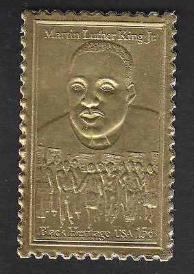 Martin Luther King Jr. 22Kt Gold plated USPS Stamp replica # 1771 issued 1979
