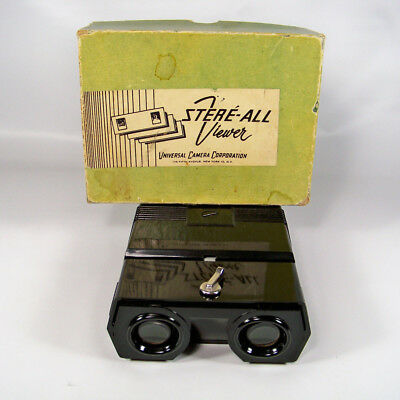 Stere-All Stereo Slide Viewer Universal Camera Corporation Made In Germany AS IS