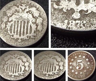 🇺🇸 1872 Shield Nickel Coin Key Date *2 Resembles 8 - Free Shipping!
