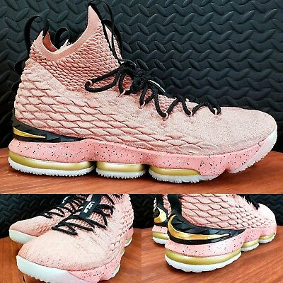 73081a9ae5d2 Nike LeBron XV 15 Limited Hollywood All Star Rust Pink 897650-600 Men s  Size 14