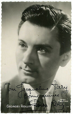Georges ROLLIN Autographe Autogramm PHOTO SIGNEE Foto signiert signed