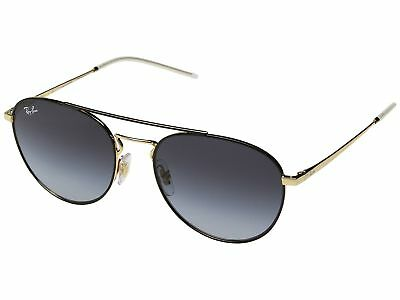 0f66a2c4bd4 Ray Ban Highstreet Sunglasses RB3589 90548G 55 Black Gold Grey Gradient Lens