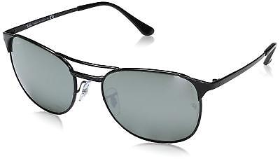 222787e8f82 Ray-Ban RB3429M 002 40 Signet Black Frame Silver Mirror 58mm Lens Sunglasses