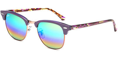 2af92420a55fb Ray-Ban RB3016 1221C3 51 mm Clubmaster Mineral Green Rainbow Flash  Sunglasses