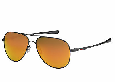 c03a6048db New Oakley Elmont Satin Black Aviator Sunglasses 60mm Prizm Ruby Le  OO4119-13-60