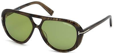 5bda1f44e99 Tom Ford FT0510 20N Marley Tortoise Green Aviator 59mm Sunglasses TF 510
