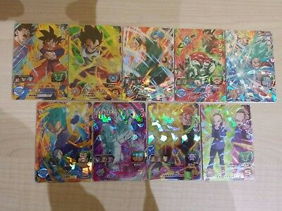 Dragon ball heroes UM 2 SR lote completo 9/9 dragonball card cards game jcc