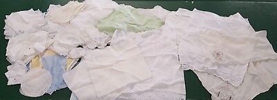 HUGE LOT OF 100 Plus VINTAGE LINENS Napkins,embroidered Doilies,Table runs