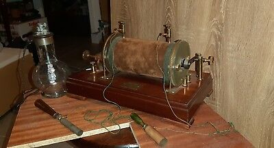 Antique Medical Electrotherapie Ruhmkorff Coil X Ray Pile De Grenet Electrodes