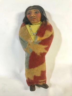 Mary Frances Woods Doll Skookum  Blanketed Native American Indian 10.5In