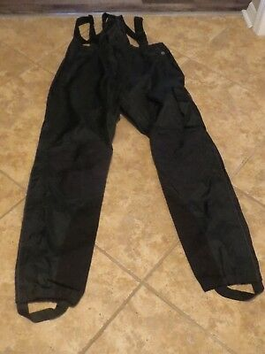 Harley Davidson Rain Pants Mens Size XLarge with Suspenders and Zip UP Legs