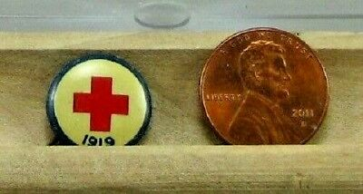 Vintage Red Cross 1919 Pinback Button by Animate Toy Co. New York