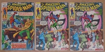 Amazing Spider-Man 83 91 91 affordable lot of 3 Silver Age