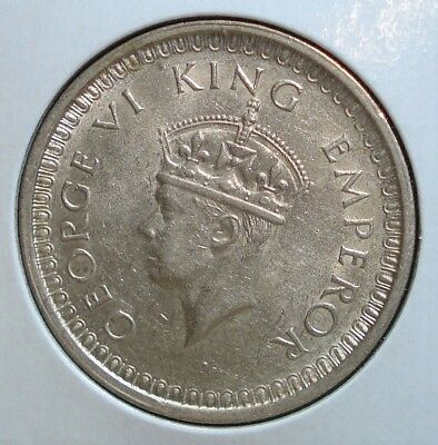 1942 Silver Rupee from British India