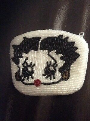 Vintage Beaded Betty Boop Coin Purse
