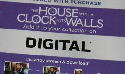 """the House With A Clock In Its Walls""  Digital Code 2018) ***brand New***"