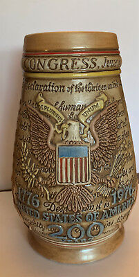 Vintage Anheuser Busch 1776-1976 United States Of America 200 Years Beer Stein