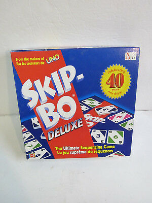 Skip-bo Delux Celebrating 40 Years Edition Ultimate Sequencing Game Toys & Hobbies