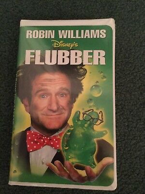 Classic Disney Movie On Vhs Tape - Flubber - Starring Robin Williams - Rated Pg