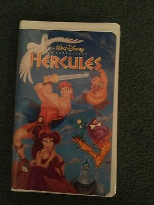 Walt Disney Masterpiece Movie On Vhs Tape - Hercules - Animated Movie Rated G
