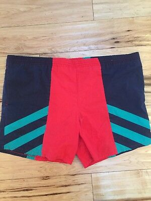 Vintage Men's XL Freestyle Color Block Lined Swim Trunks Board Shorts Tennis