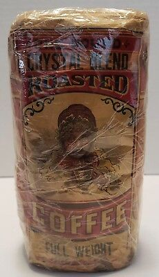 Vintage Crystal Blend Roasted Coffee Bag Unopened Graphic , Am4592