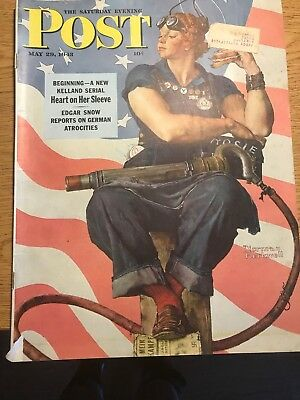 The Saturday Evening Post- May. 29, 1943 Norman Rockwell Good Condition
