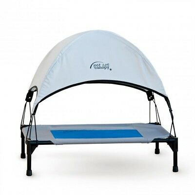 K&H Large Easy-Assembly Sturdy Indoor/Outdoor Pet Cot Canopy Only, Gray