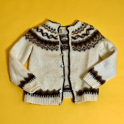37e5801a3ae Vintage HILDA Men's 100% Pure Wool Cardigan Sweater, Made in Iceland - Size  M