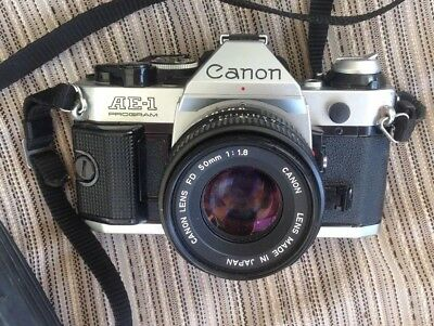 Canon AE-1 Program Camera Outfit with FD 50mm f1.8 Lens - Great Condition...